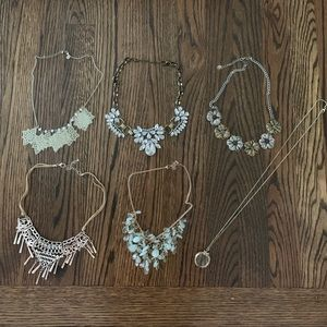 Statement necklaces lot Bib beaded H&M Forever 21